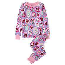 Buy Hatley Children's Princess Puppy Print Pyjama Set, Lilac Online at johnlewis.com