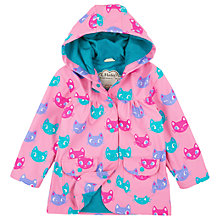 Buy Hatley Girls' Silly Kitty Raincoat, Pink Online at johnlewis.com