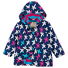 Buy Hatley Girls' Flower Print Raincoat, Navy Online at johnlewis.com