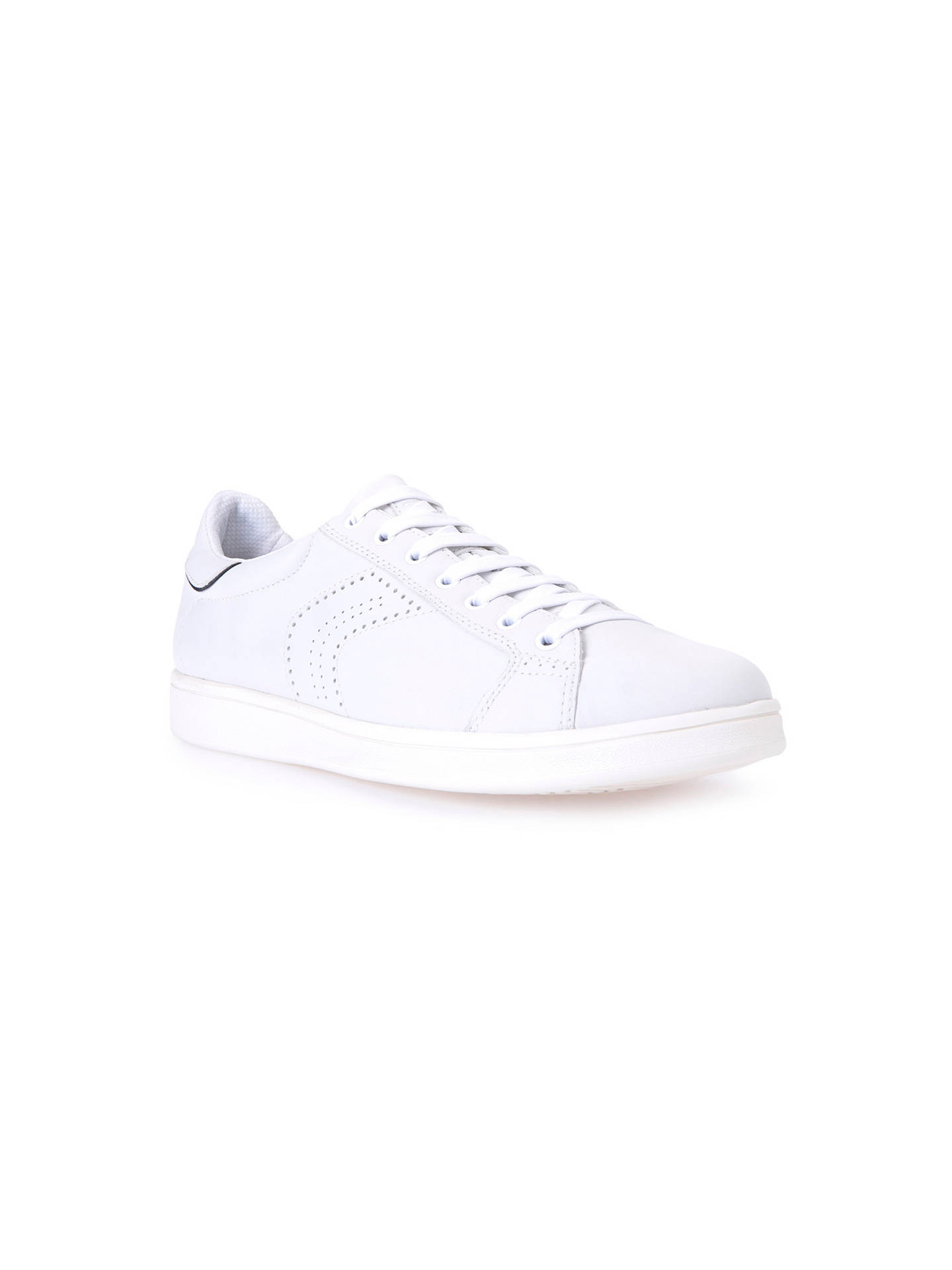 ffc50972de Geox Warrens Trainers, White at John Lewis & Partners