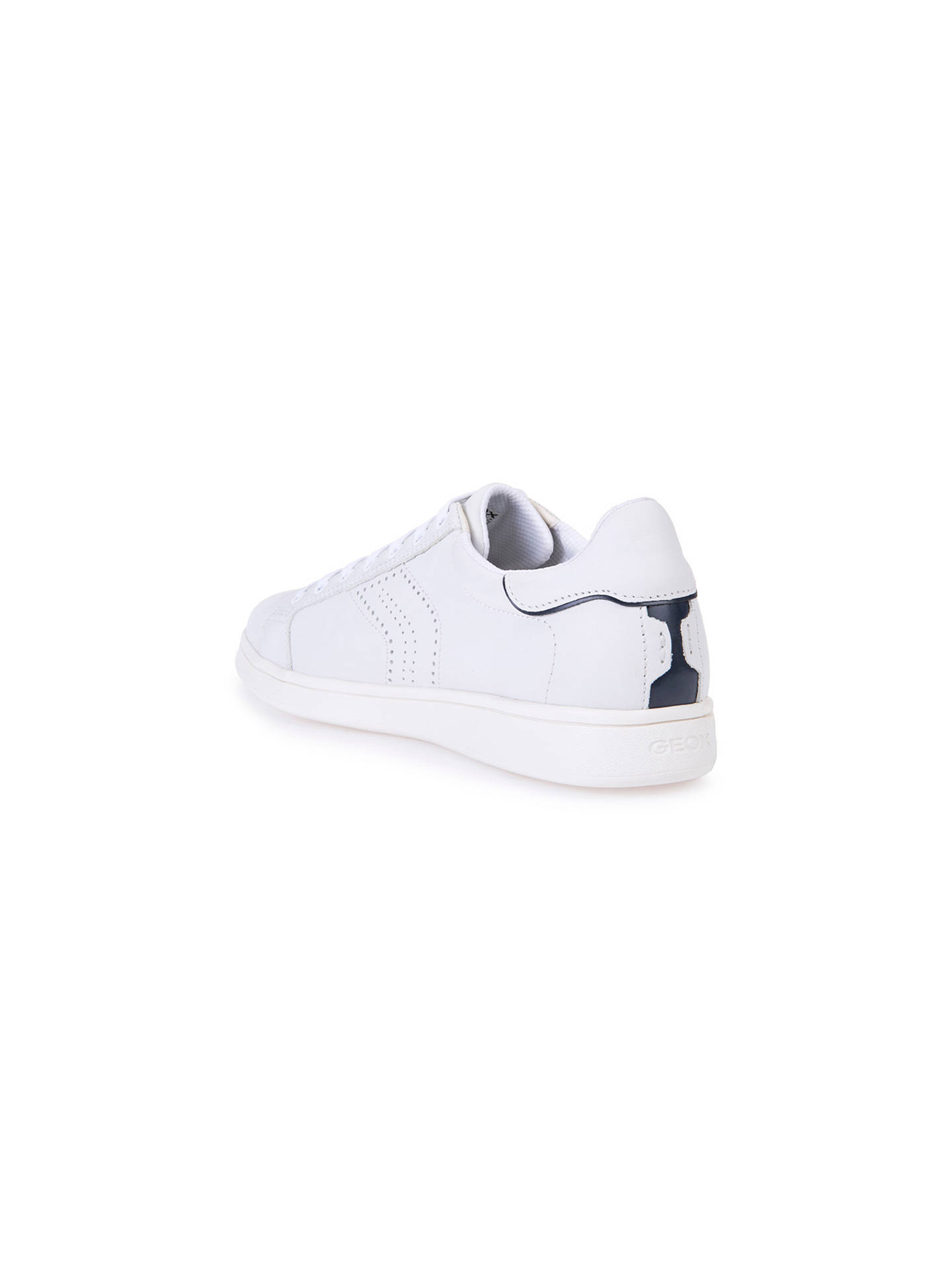a65d5859d9 ... Buy Geox Warrens Trainers, White, White, 7 Online at johnlewis.com ...