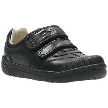 Buy Clarks Children's Lil Folk Zoo School Shoes, Black Leather Online at johnlewis.com
