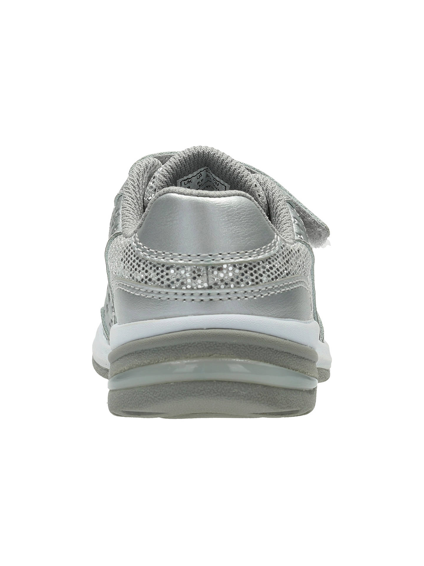 Clarks Childrens Piper Play Leather Shoes At John Lewis Partners Heart Buyclarks Silver 7f Online Johnlewis