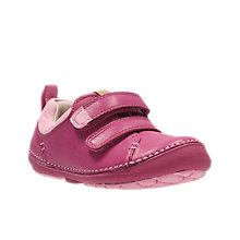 Buy Clarks Children's Softly Hen First Shoes, Pink Online at johnlewis.com