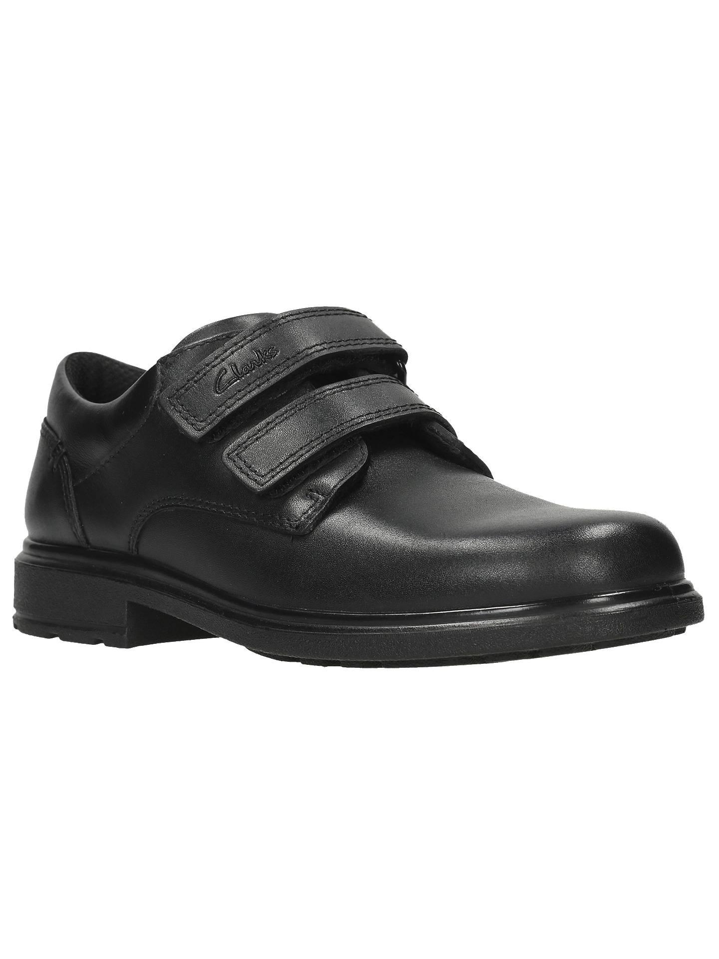 Boys Clarks Remi Pace Inf /& Jnr Black Leather Smart School Shoes