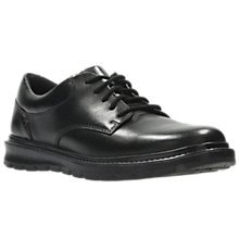 Buy Clarks Children's Mayes Trek Leather School Shoes, Black Online at johnlewis.com