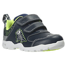 Buy Clarks Children's Brite Rex First Shoes, Navy Online at johnlewis.com