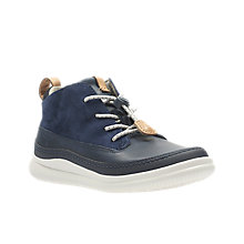 Buy Clarks Children's Cloud Air Shoes, Navy Online at johnlewis.com