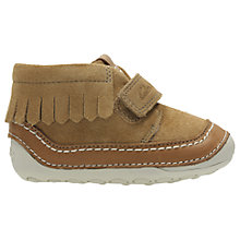 Buy Clarks Baby's Little Aklark Suede Shoes, Tan Online at johnlewis.com