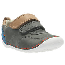 Buy Clarks Children's Tiny Aspire Leather Shoes, Grey Online at johnlewis.com