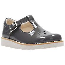 Buy Clarks Children's Crown Wish Mary Jane Leather School Shoes, Grey Online at johnlewis.com