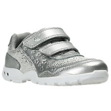 Buy Clarks Children's Brite Play First Shoes, Silver Online at johnlewis.com