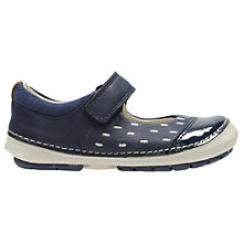 Buy Clarks Children's Softly Lou Rip-Tape First Shoes, Navy/White Online at johnlewis.com