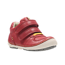 Buy Clarks Children's Softly Pow First Shoes, Red Online at johnlewis.com
