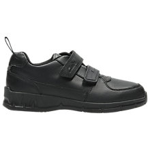 Buy Clarks Children's Maris Fire School Shoes, Black Online at johnlewis.com