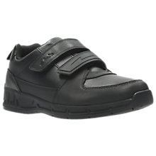 Buy Clarks Children's Gloforms Maris Fire Junior School Shoes, Black Online at johnlewis.com