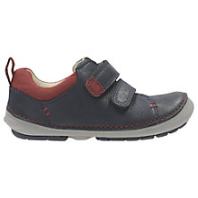 Buy Clarks Children's Softly Toby First Shoes, Navy Online at johnlewis.com