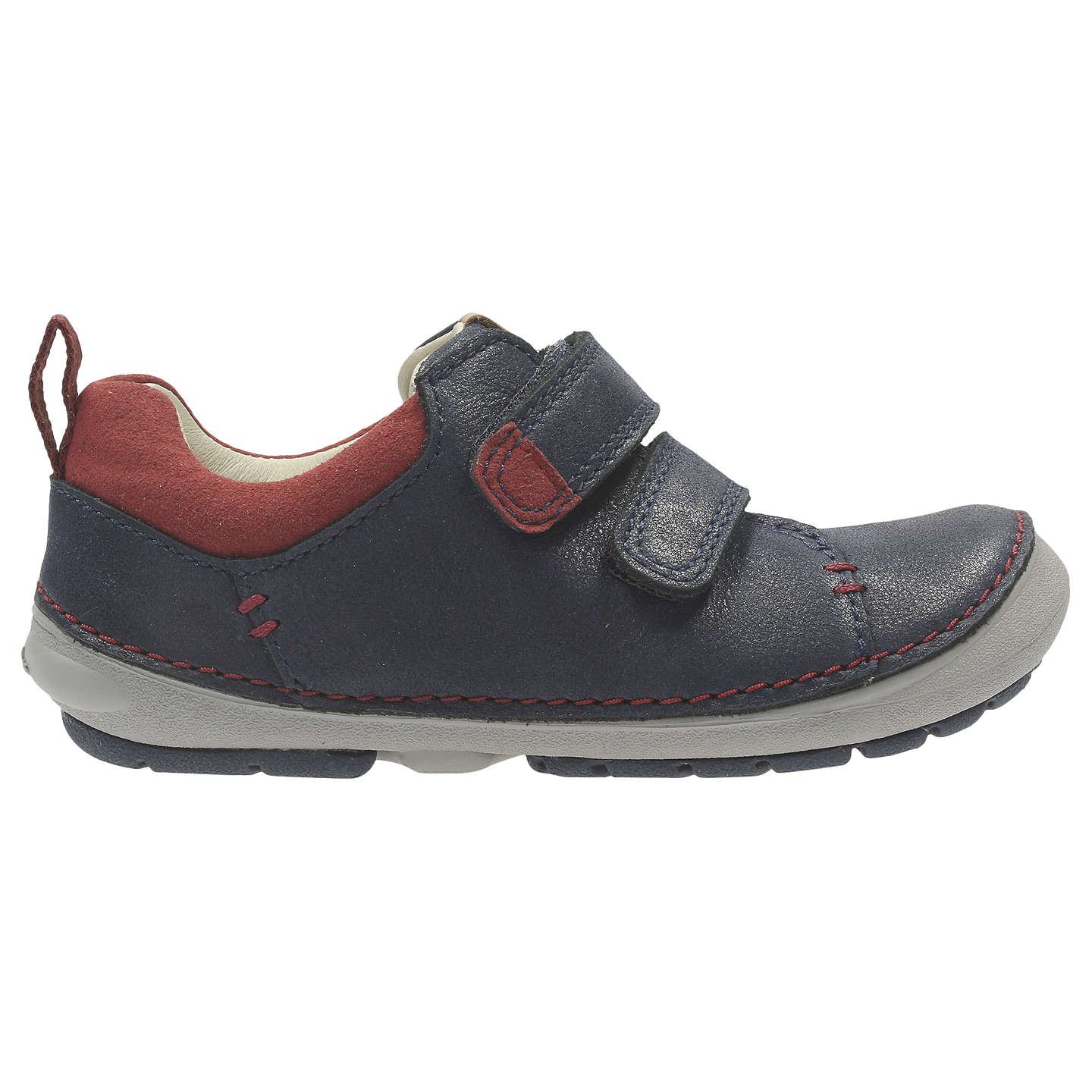 BuyClarks Children's Softly Toby First Shoes, Navy, 4E Jnr Online at  johnlewis. ...