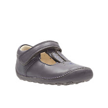 Buy Clarks Children's Little Glo T-Bar Shoes, Purple Online at johnlewis.com