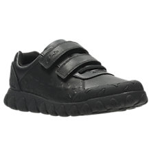 Buy Clarks Children's Tyrex Ride Leather School Shoes, Black Online at johnlewis.com