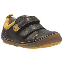 Buy Clarks Children's SoftlyToby First Shoes, Brown Online at johnlewis.com