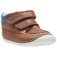 Buy Clarks Children's Tiny Tuktu Leather Shoes, Brown Online at johnlewis.com