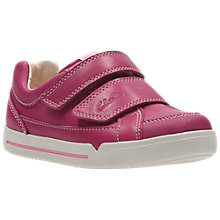 Buy Clarks Children's Lil Folk Hug Infant Shoes, Pink Online at johnlewis.com