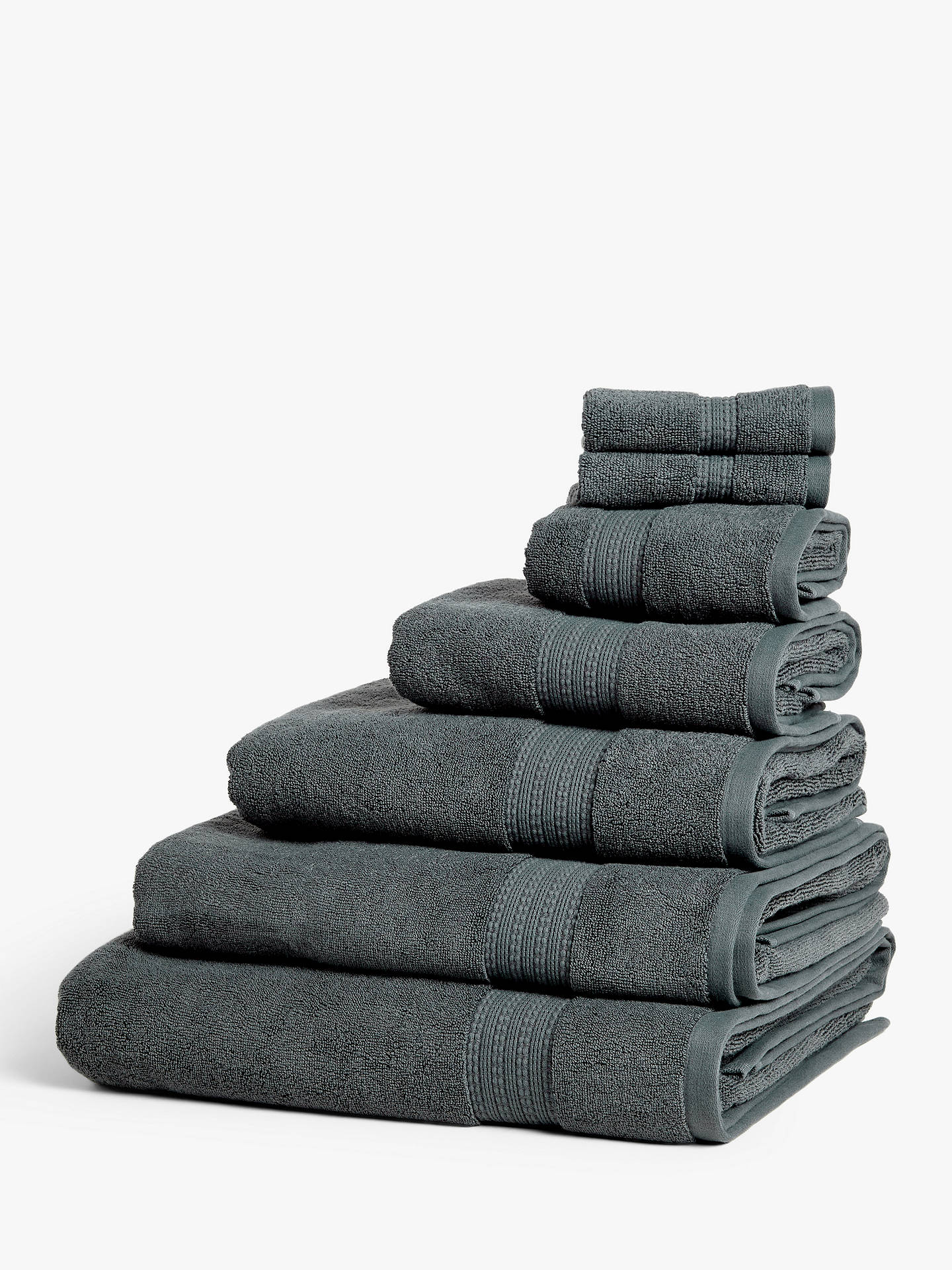 John Lewis Partners Supima Cotton Face Cloth Steel Online At Johnlewis