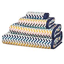 Buy John Lewis Scandi Chevron Towels, Multi Online at johnlewis.com