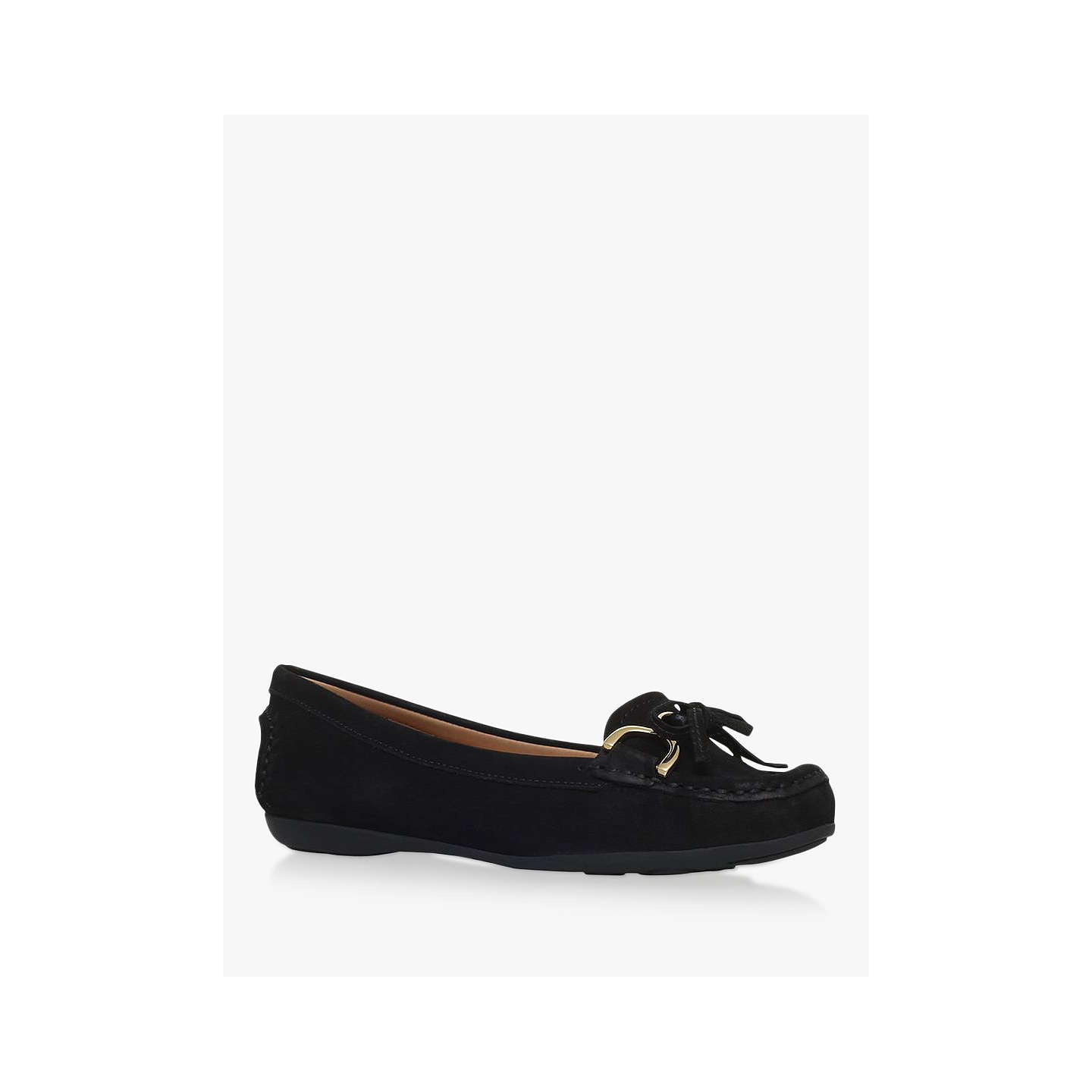BuyCarvela Comfort Cally Bow Loafers, Black, 3 Online at johnlewis.com ...
