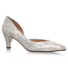 Buy Carvela Comfort Amy Court Shoes, Gold Leather Online at johnlewis.com