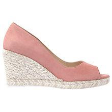 Buy Mint Velvet Cleo Peep Toe Wedge Heeled Sandals, Light Pink Online at johnlewis.com