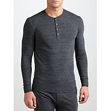 Buy Paul Smith Long Sleeve Henley Top, Grey Online at johnlewis.com