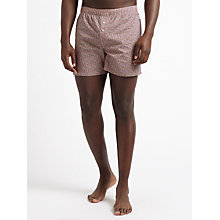 Buy Paul Smith Floral Woven Cotton Boxers, Orange Online at johnlewis.com