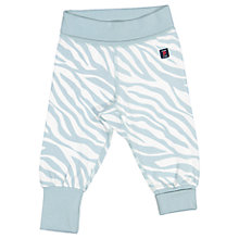 Buy Polarn O. Pyret Baby Zebra Stripe Trousers, Blue Online at johnlewis.com