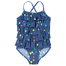 Buy Polarn O. Pyret Girls' Dot Swimsuit, Blue Online at johnlewis.com