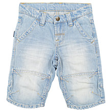 Buy Polarn O. Pyret Children's Denim Shorts, Blue Online at johnlewis.com