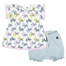 Buy Polarn O. Pyret Baby Zebra Print Dress and Shorts Set, White/Multi Online at johnlewis.com