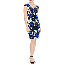 Buy Lauren Ralph Lauren Floral Print Jersey Dress, Lighthouse Navy/Colonial Cream Online at johnlewis.com