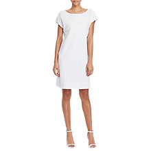 Buy Lauren Ralph Lauren Embroidered Shift Dress, White Online at johnlewis.com