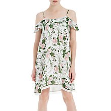Buy Max Studio Floral Print Cold Shoulder Dress, Ivory/Coral Zinnial Bloom Online at johnlewis.com