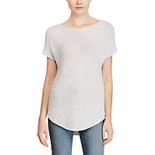 Buy Lauren Ralph Lauren Short Sleeve Boat Neck Jumper, Silver Online at johnlewis.com