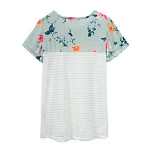Buy Joules Suzy Jersey T-Shirt, Khaki Bird Floral Online at johnlewis.com