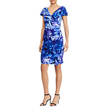 Buy Lauren Ralph Lauren Floral Print Jersey Dress, Blue/Purple Multi Online at johnlewis.com