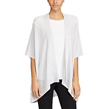 Buy Lauren Ralph Lauren Metallic Open-Front Cardigan, Silver Shimmer Online at johnlewis.com