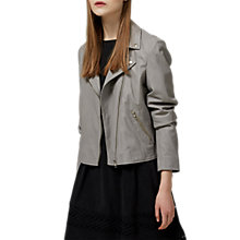 Buy Selected Femme Marlen Leather Jacket Online at johnlewis.com