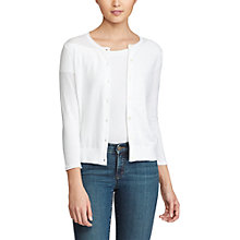 Buy Lauren Ralph Lauren Cotton-Blend Cardigan, White Online at johnlewis.com