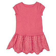 Buy Jigsaw Girls' Broderie Hem Dress Online at johnlewis.com