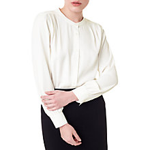 Buy Precis Petite Jeff Banks Blouse, Ivory Online at johnlewis.com