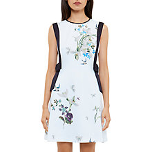 Buy Ted Baker Sipnela Spring Meadow A-Line Bow Dress, Light Green Online at johnlewis.com